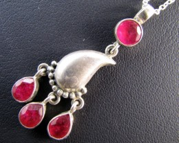 30 Cts Ruby set in Silver Pendant MJA 655
