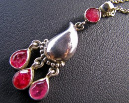27 Cts Ruby set in Silver Pendant MJA 657