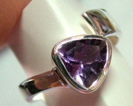 AMETHYST SILVER RING  22  CTS  SIZE-6 ADK-3