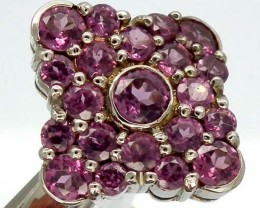 AMETHYST  SILVER RING   28.40 CTS  SIZE-7.50    RJ-214