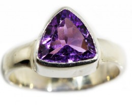 6.5 SIZE  AMETHYST RING SILVER  FACTORY DIRECT [SJ3108]