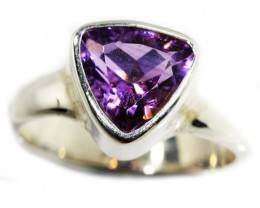 6.5 SIZE  AMETHYST RING SILVER  FACTORY DIRECT [SJ3109]