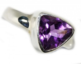 7 SIZE  AMETHYST RING SILVER  FACTORY DIRECT [SJ3110]
