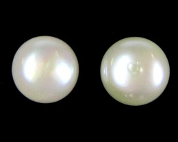 UNIQUE  9X9PEARL  NATURAL STERLING SILVER EARRING   GTJA 253