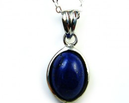 CABOCHON  BLUE LAPIS SET IN  PENDANT  AAA2115