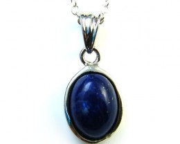 CABOCHON  BLUE LAPIS SET IN  PENDANT  AAA2121