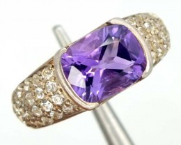 AMETHYST  SILVER RING  39.85 CTS  SIZE-7    RJ-336