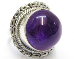 CABACHON  AMETHYST RING SIZE 7.5   MJA 319