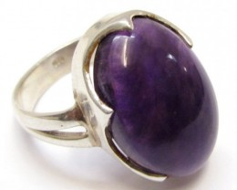 CABACHON  AMETHYST RING SIZE  9.5   MJA 318