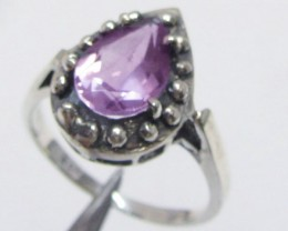 Amethyst   Silver Ring size  7.5  MJA 803