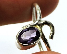 Cute Natural Amethyst  Ring Size 81/2   JGG 113