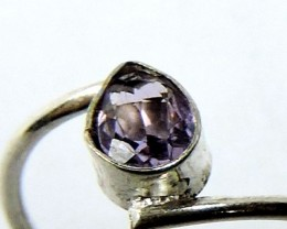 FREE SHIPPING Cute Natural Amethyst  Ring Size 81/2  JGG 115