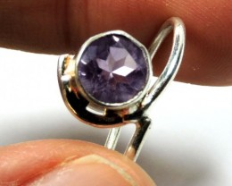 Cute Natural Amethyst  Ring Size  91/2 JGG 117