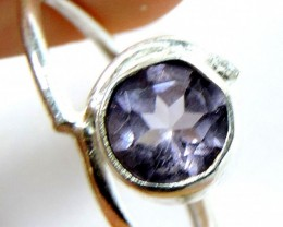 Cute Natural Amethyst  Ring Size 8   JGG 123