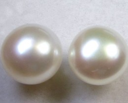7-7.5 MM DIAM 14 K GOLD PEARL EARRING STUD TP 12