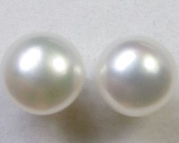 7-7.5 MM DIAM 14 K GOLD PEARL EARRING STUD TP 13