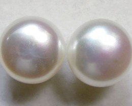 9-9.5 MM DIAM 14 K GOLD PEARL EARRING STUD TP 23