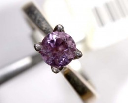 FACETED AMETHYST SILVER RING SZ7 20 CTS  TBJ-638