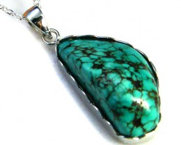 TURQUOISE COLOUR  SET IN  PENDANT  AAA2225