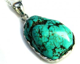 TURQUOISE COLOUR  SET IN  PENDANT  AAA2227