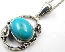 LARGE TURQUOISE STYLISH PENDANT    AAT 1378