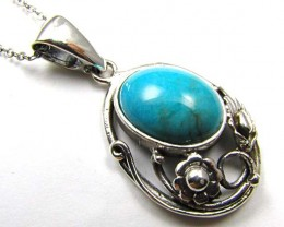 LARGE TURQUOISE STYLISH PENDANT    AAT 1380