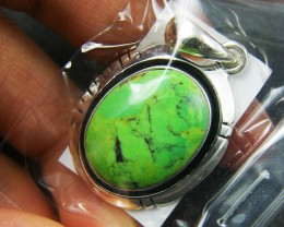 LARGE TURQUOISE   STERLING SILVER PENDANT MYT 358