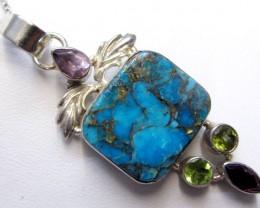 Beuatiful Gemstone n Turquoise Pendant  MJA 274