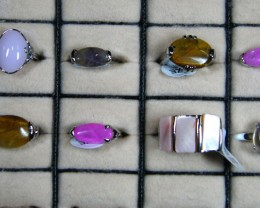 RESELLERS  DEAL 8 MIXED   GEMSTONE RINGS  AAT 730