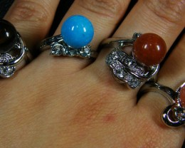 RESELLERS  DEALEIGHT MIXED  GEMSTONE RINGS  AAT 739