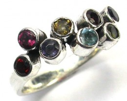 ASSORTED GEM STONE 6.5 RING SIZE 14.50 CTS [SJ1206]