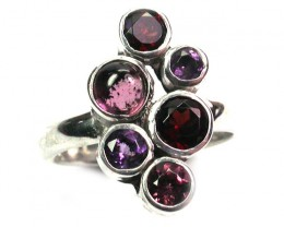 ASSORTED GEM STONE 8 RING SIZE 26.75 CTS [SJ1326]