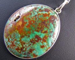 83 CtsTibetan Turquoise  Pendant MJA 672