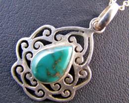 25 CtsTibetan Turquoise  Pendant MJA 679