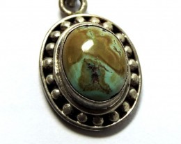 Ancient Turquoise  pendant Nepal JGG 160