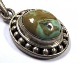 Ancient Turquoise  pendantNepal JGG 156