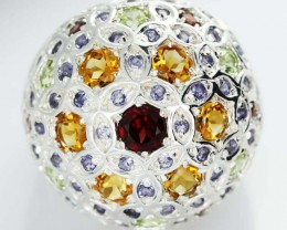 ASSORTED GEM STONE 7.5 RING SIZE [SJ1499]SH