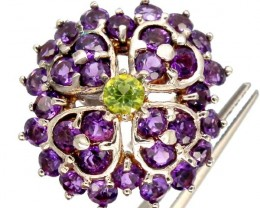 AMETHYST  SILVER RING   38.80 CTS  SIZE- 7.50   RJ-213