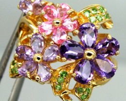 Mixed Gemstone Rings