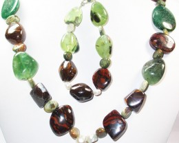 1246.95 CTS CHUNKY BOULDER AND GEMSTONE NECKLACE SJ2006
