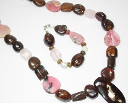 1025.95 CTS CHUNKY BOULDER AND GEMSTONE NECKLACE SJ2008