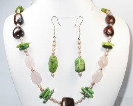 717.20 CTS CHUNKY BOULDER AND GEMSTONE NECKLACE SJ2009