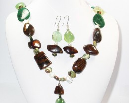 1383.25 CTS CHUNKY BOULDER AND GEMSTONE NECKLACE SJ2010