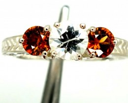 ZIRCON SILVER RING  25.90 CTS  SIZE- 8.25   RJ-371