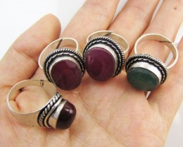 Parcel deal   Ruby-Emerald Quartz  Rings   MJA 1201