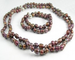 Genuine Three Strand Pearl Necklace