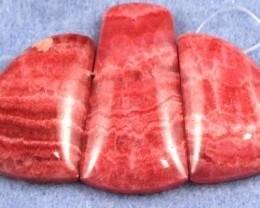 Majestic Rhodochrosite Pendant set of 3pc  85 x 45 mm RPS1