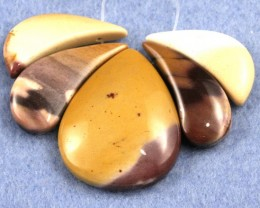 Fabulouse Mookaite Pendant set of 5pc  70 x 40 mm MPS3