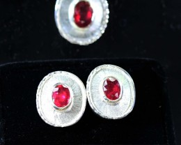 Ruby set  Earrings,Pendant and Ring size 7  Bu1190
