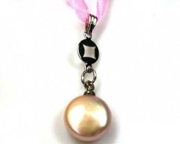 FRESH WATER PEARL PENDANT  2.85CTS  AAA519ML